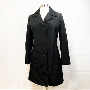 Andrew MARC New York Black Trench - Med Petite